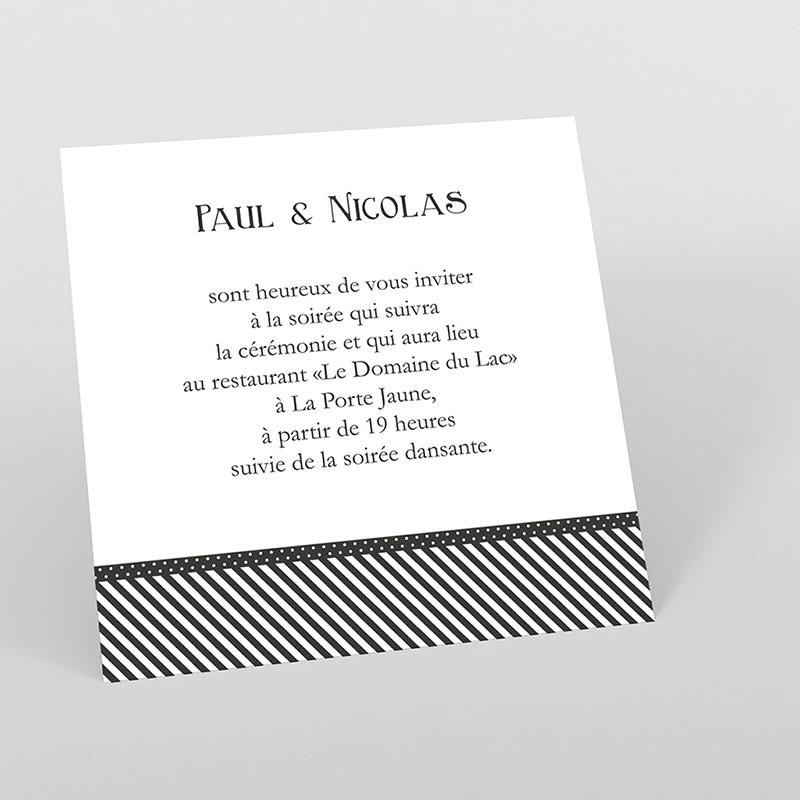 Carte d'invitation mariage Wedding 2 mr