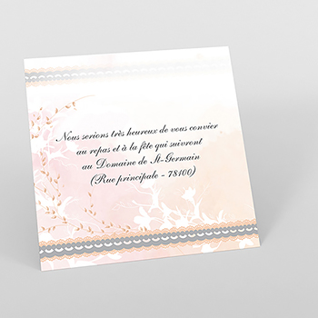 Carte d'invitation mariage Sensibilis coeur