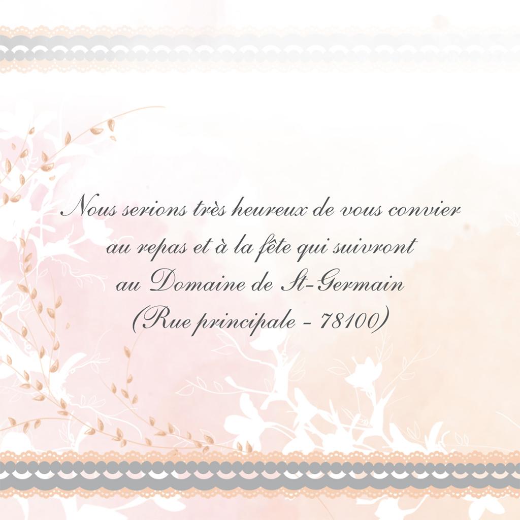 Carte d'invitation mariage Sensibilis coeur pas cher