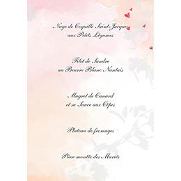 Menu mariage Sensibilis coeur