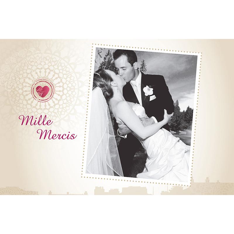 Carte de remerciement mariage Montgolfière  gratuit