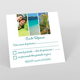 Carton réponse mariage carré photos vierges