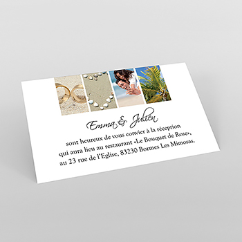Carte d'invitation mariage Pano simple photos vierges