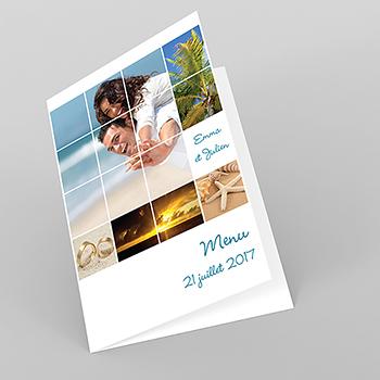 Menu mariage Pano simple photos vierges