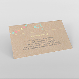 Carte d'invitation mariage Pretty love story