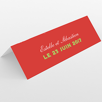 Marque-place mariage Gourmandise
