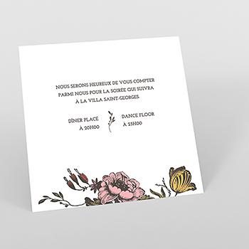 Carte d'invitation mariage Authenticité