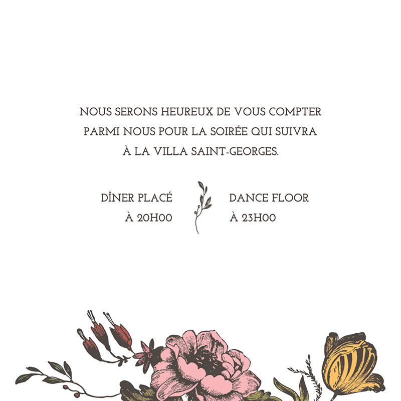 Carte d'invitation mariage Authenticité pas cher