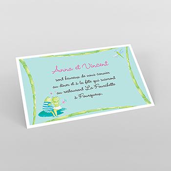 Carte d'invitation mariage Les Grenouilles