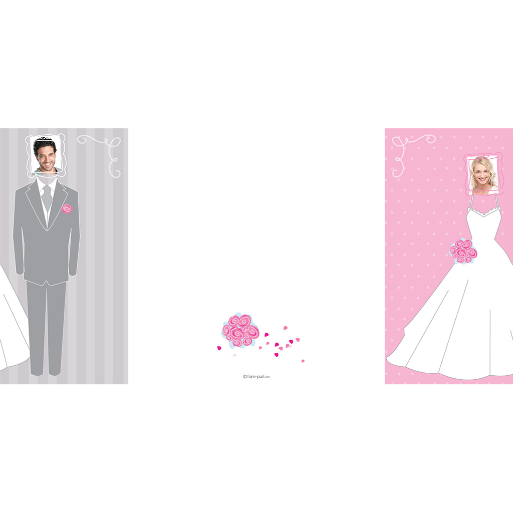 Faire-part de mariage Costumes  pas cher