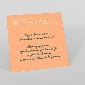 Carte d'invitation mariage Oui-oui