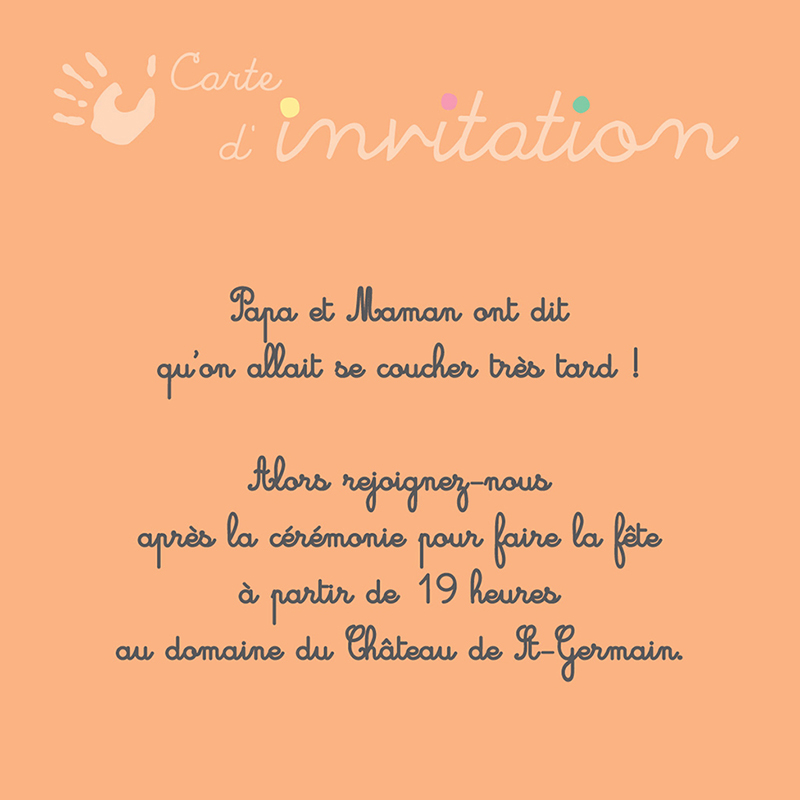 Carte d'invitation mariage Oui-oui  pas cher