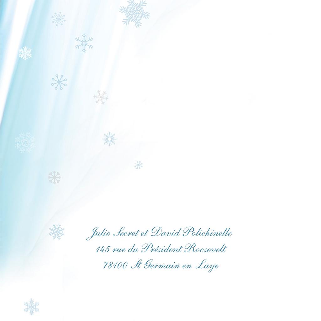 Faire-part de mariage Mariage en hiver  gratuit