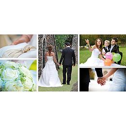 Carte de remerciement mariage Youpi gris panoramique gratuit