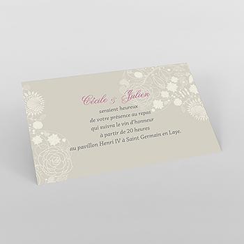 Carte d'invitation mariage Mariage ivoire