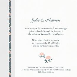 Faire-part de mariage Simplicité gratuit