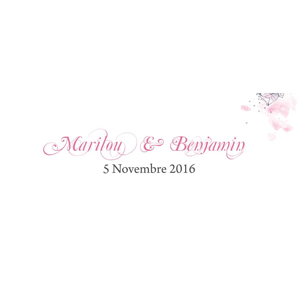 Marque-place mariage Rêverie  pas cher
