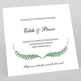 Carte d'invitation mariage Nature Chic