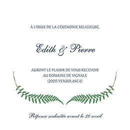 Carte d'invitation mariage Nature Chic pas cher