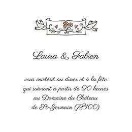 Carte d'invitation mariage Vélo à deux pas cher