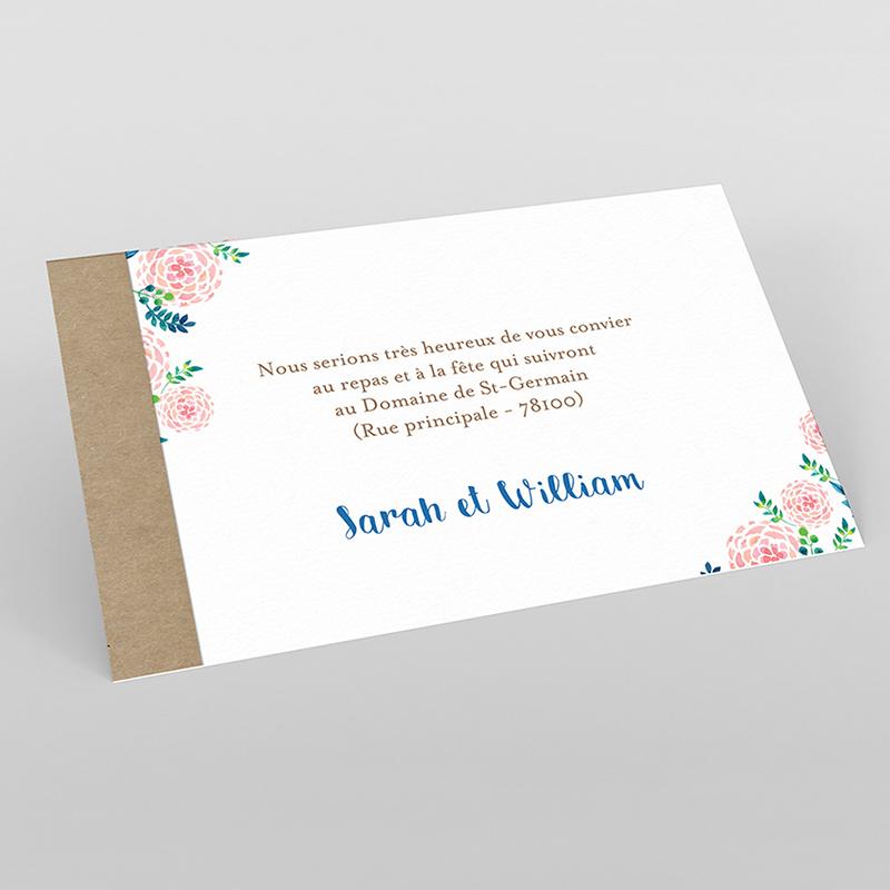 Carte d'invitation mariage Romantic Folk