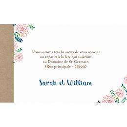 Carte d'invitation mariage Romantic Folk pas cher