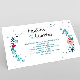Carte d'invitation mariage Gipsy