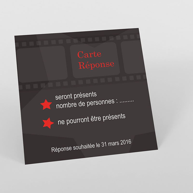 Carton réponse mariage Cinéma