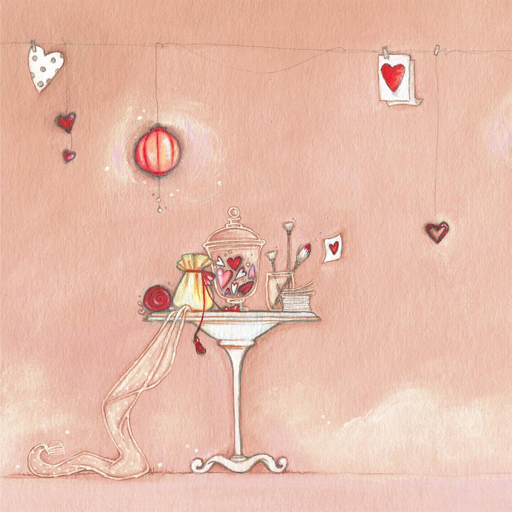 Faire-part de mariage Tendre espièglerie beige rose gratuit