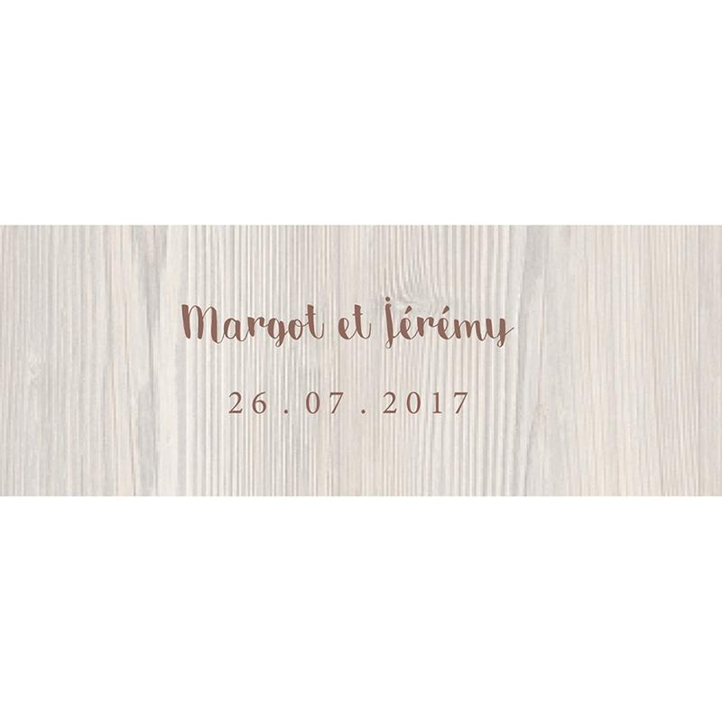 Marque-place mariage Tendance bois gratuit