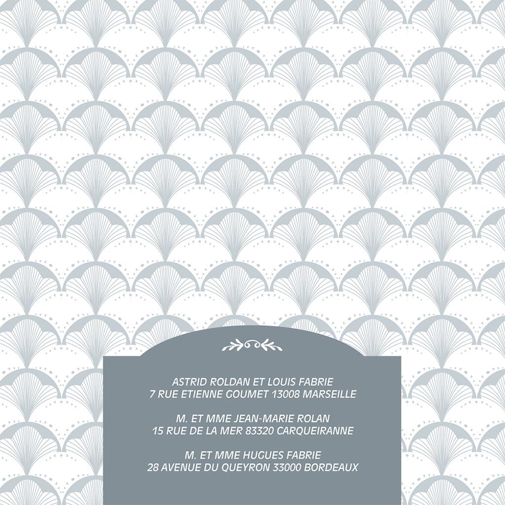 Faire-part de mariage Mistinguett gratuit