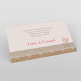 Carte d'invitation mariage Bohème Chic