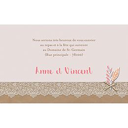 Carte d'invitation mariage Bohème Chic pas cher