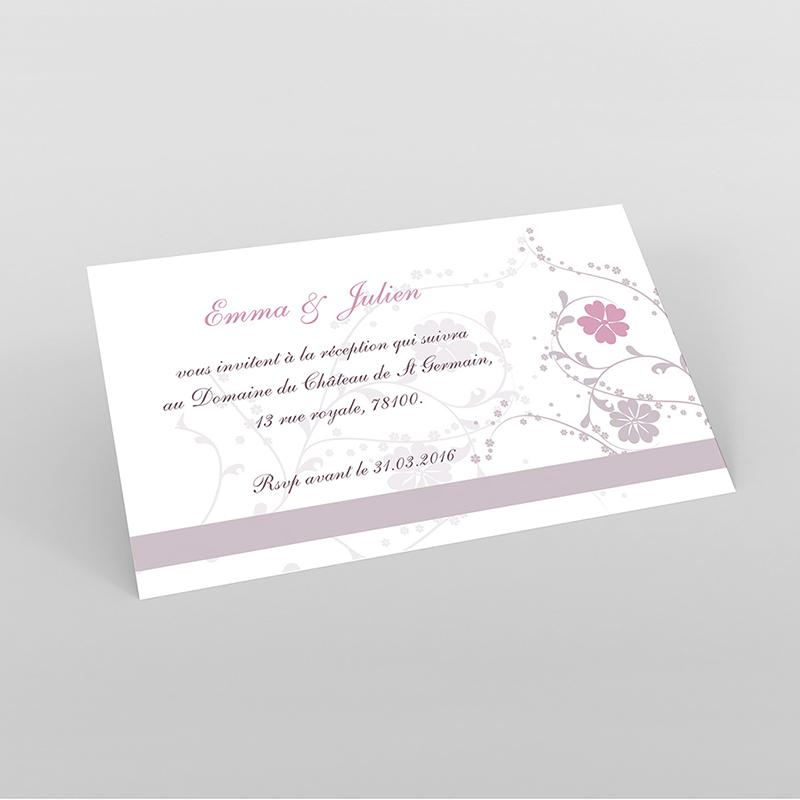 Carte d'invitation mariage Nuptial gris rose