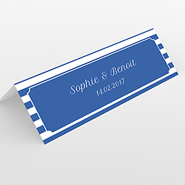 Marque-place mariage Navy chic