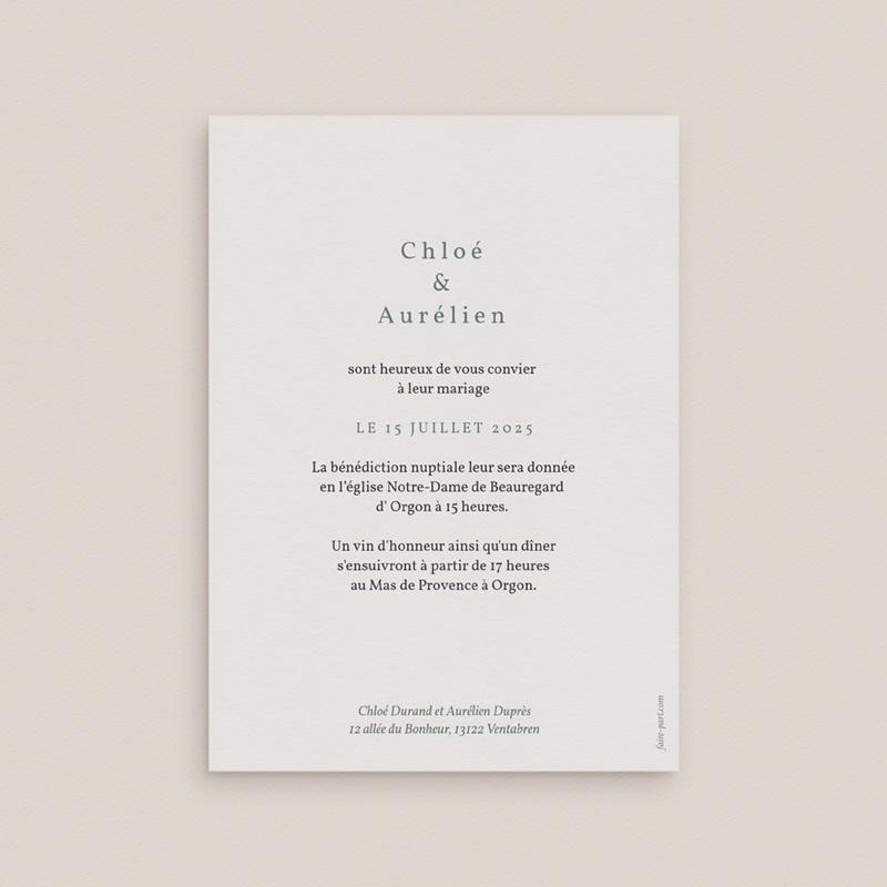 Faire-part de mariage Encadrement Floral, 12 x 16, 7 cm pas cher