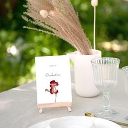 Marque table mariage Lot de 3, Arche de fleurs pourpres gratuit