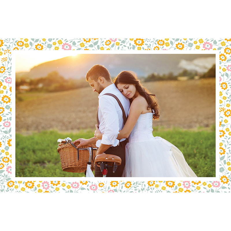 Carte de remerciement mariage Yellow Liberty gratuit