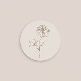 Etiquette enveloppes mariage Silhouette de Pivoines, 4,5 cm pas cher