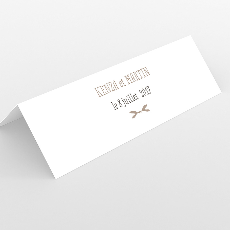 Marque-place mariage Trendy