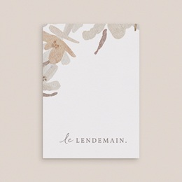 Carte d'invitation mariage Couronne de Fleurs d'Oranger, Brunch gratuit