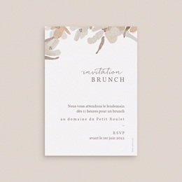 Carte d'invitation mariage Couronne de Fleurs d'Oranger, Brunch