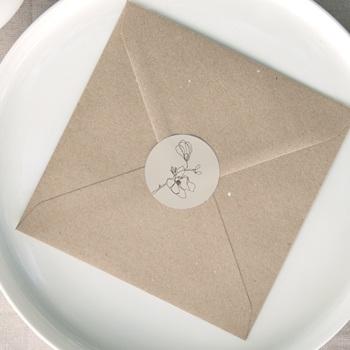 Etiquette enveloppes mariage Empreinte Cerisier Rosacé