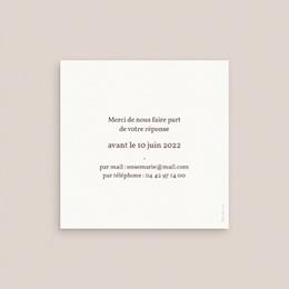 Carton réponse mariage Empreinte Cerisier, 10 x 10 pas cher