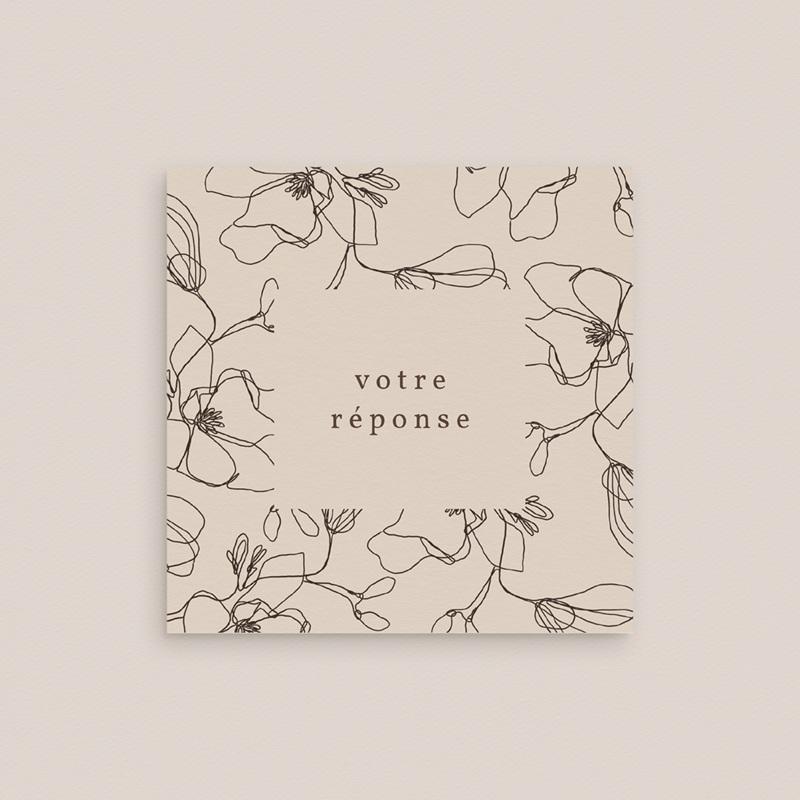 Carton réponse mariage Empreinte Cerisier, 10 x 10 gratuit