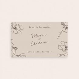 Etiquette bouteille mariage Empreinte Cerisier Rosacé, 13 x 8 cm pas cher