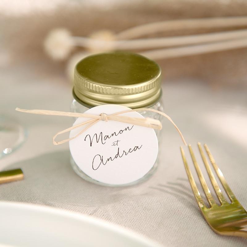 Etiquettes cadeaux mariage Empreinte Cerisier Rosacé, Souvenir