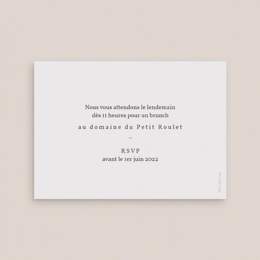 Carte d'invitation mariage Empreinte Cerisier Rosacé, Brunch pas cher