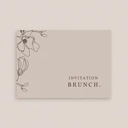 Carte d'invitation mariage Empreinte Cerisier Rosacé, Brunch gratuit