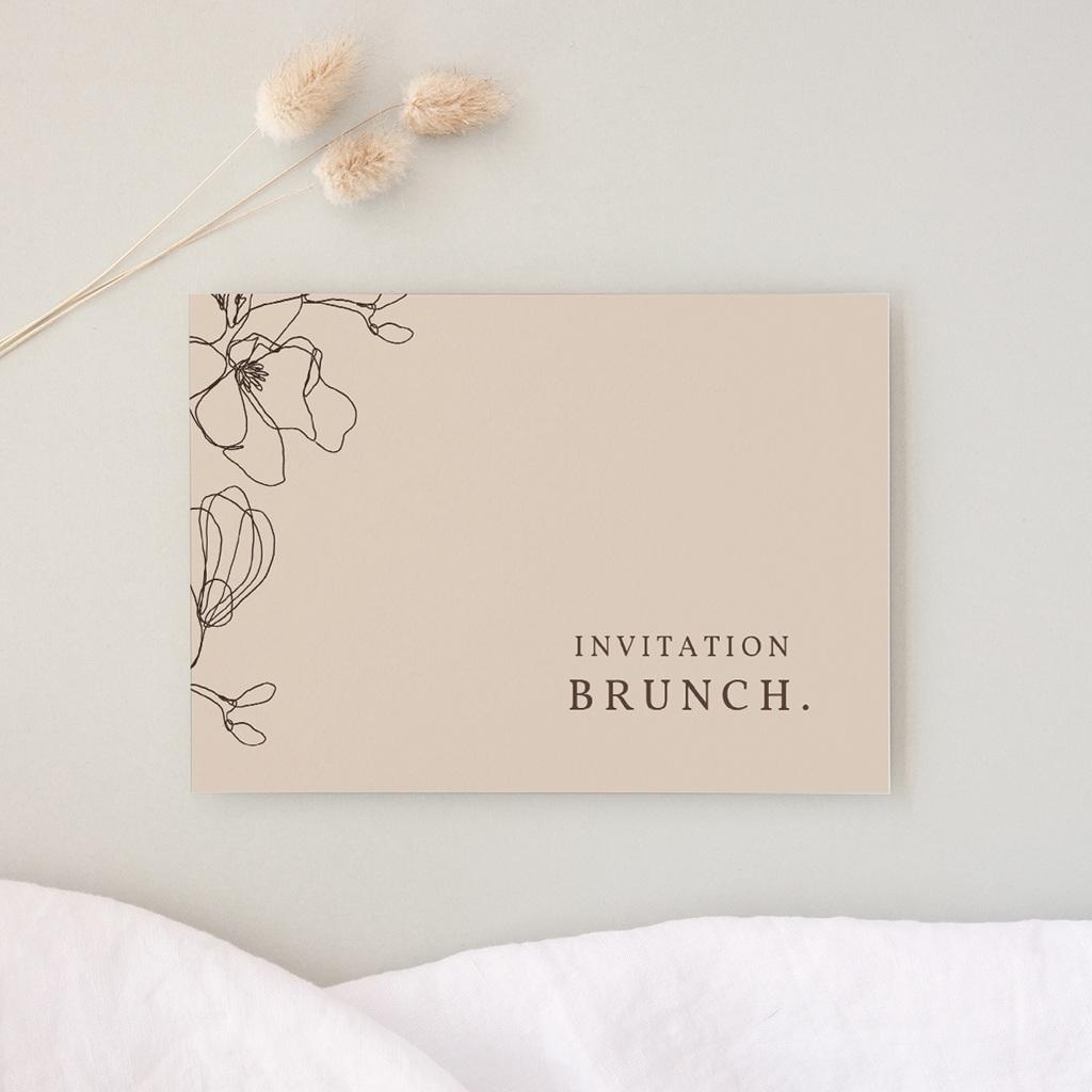 Carte d'invitation mariage Empreinte Cerisier Rosacé, Brunch
